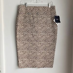 Liz Clairbore Leopard Pencil Skirt